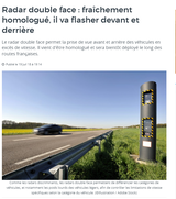 Certification of our « double-sided » speed enforcement system